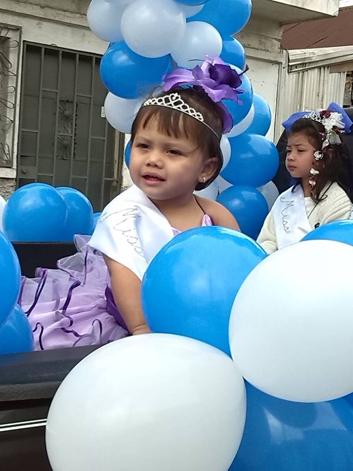 """Future Academy student and daughter of Limon teacher Leonor: Monserrath Santigo was awarded """"Miss Amable"""" in her day care's parade for Independence Day Sept 15th."""