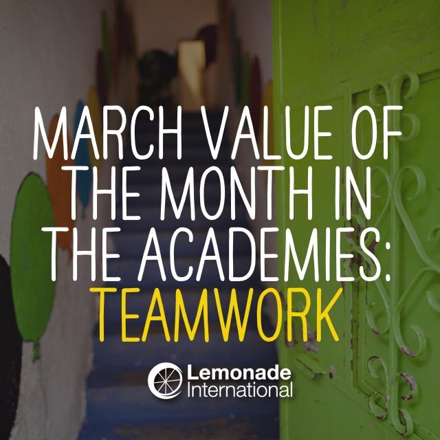 Value of the Month: Teamwork | Lemonade International