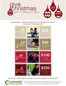 Give Christmas | Lemonade International