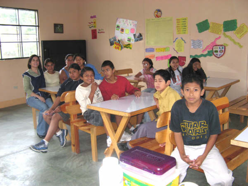 Edy with his classmates in the Limon academy in 2006