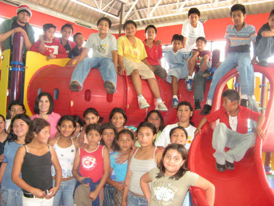 Edy with his classmates at Burger King in 2007
